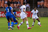 HOUSTON, TX - JANUARY 28: Crystal Dunn of the United States controls the ball during a game between Haiti and USWNT at BBVA Stadium on January 28, 2020 in Houston, Texas.