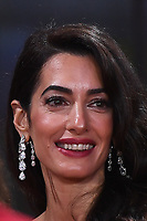 LONDON, ENGLAND - OCTOBER 10: Amal Clooney attending 'The Tender Bar' Premiere - the 65th BFI London Film Festival at The Royal Festival Hall on October 10, 2021, London, England.<br /> CAP/MAR<br /> ©MAR/Capital Pictures