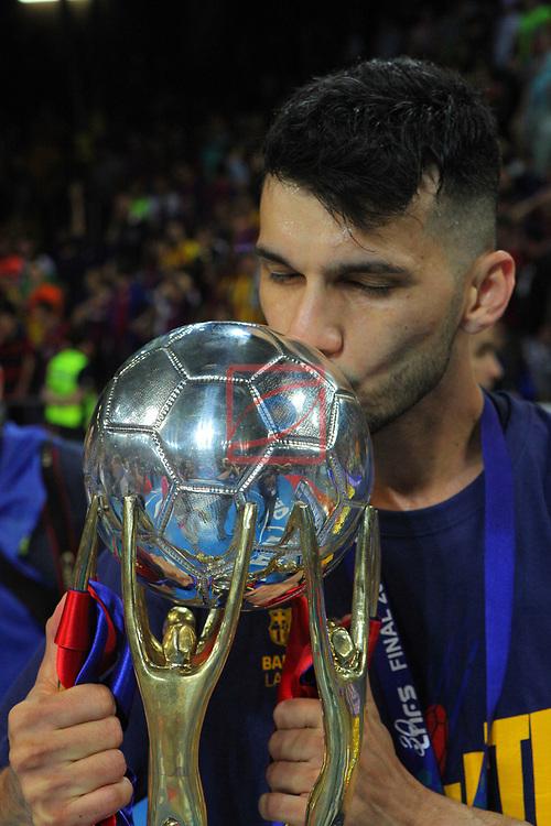 League LNFS 2018/2019.<br /> Play Off. Game: 5.<br /> FC Barcelona Lassa vs El Pozo Murcia: 3-2.<br /> Esquerdinha.
