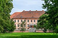 Schloss Rühstädt, heute Wellness-Hotel, Europäisches Storchendorf Rühstädt, Prignitz, Brandenburg, Deutschland