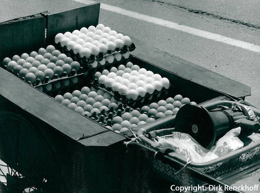 Eierhandel in Kwangju, Korea 1986