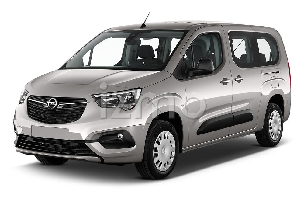 2021 Opel Combo-Life XL-Edition 5 Door Minivan Angular Front automotive stock photos of front three quarter view