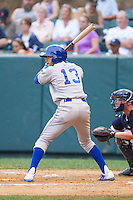 Angelo Castellanos (13) of the Burlington Royals at bat against the Pulaski Mariners at Calfee Park on June 20, 2014 in Pulaski, Virginia.  The Mariners defeated the Royals 6-4. (Brian Westerholt/Four Seam Images)