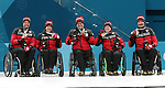 Mark Ideson, Ina Forrest, Dennis Thiessen, Marie Wright, and Jamie Anseeuw, PyeongChang 2018 - Wheelchair Curling // Curling en fauteuil roulant.<br /> Canada receives the bronze medal // Le Canada reçoit la médaille de bronze. 17/03/2018.