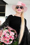 Lady Gaga arrives at Narita International Airport on November 1, 2016, Chiba, Japan. Gaga returns to Japan for the first time in two years to promote her latest album Joanne. (Photo by Rodrigo Reyes Marin/AFLO)
