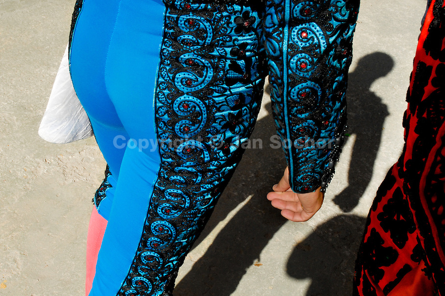 A detail of a Spanish matador's trousers (Traje de luces) at the bullring in in Fuengirola, Spain, 28 April 2007.
