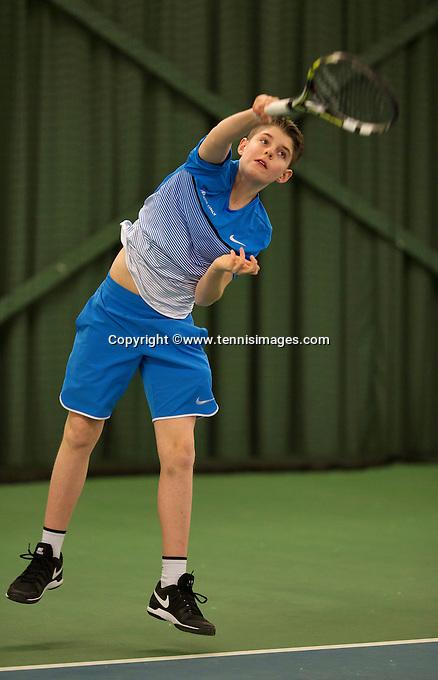 Rotterdam, The Netherlands, March 19, 2016,  TV Victoria, NOJK 14/18 years, Jens Hoogendam (NED)<br /> Photo: Tennisimages/Henk Koster
