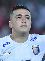 ARMENIA - COLOMBIA, 02-02-2020: Juan Camilo Perez del Chicó durante partido por la fecha 3 de la Liga BetPlay DIMAYOR I 2020 entre América de Cali y Boyacá Chicó jugado en el estadio Centenario de la ciudad de Armenia. / Juan Camilo Perez of Chico during match for the for the date 3 as part of BetPlay DIMAYOR League I 2020 between America de Cali and Boyaca Chico played at Centenario stadium in Armenia city. Photo: VizzorImage / Gabriel Aponte / Staff
