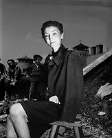 Muhlhausen, Austria.  Nador Livia, in pre-Nazi days, was a beautiful, talented, and famous actress on the Budapest stage.  She was taken prisoner, eventually to Gusen where she is pictured.  Reason for imprisonment:  Jewish heritage.  May 12, 1945.  T5c. Ignatius Gallo.   (Army)<br /> NARA FILE #:  111-SC-204810<br /> WAR & CONFLICT BOOK #:  1112