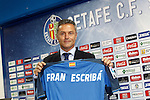 Getafe's new coach Fran Escriba during his official presentation. June 30, 2015. (ALTERPHOTOS/Acero)