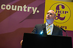 © Joel Goodman - 07973 332324 . 24/04/2014 . Manchester , UK . UKIP Deputy Leader and MEP for North West England , PAUL NUTTALL , addresses a UKIP conference rally at the Free Trade Hall in Manchester . Photo credit : Joel Goodman