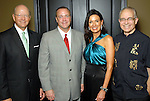 From left: Dan Bellow, Thad Brown, Karen Love and Jeff Moseley at the World Trade Gala at the Hotel ZaZa Saturday Aug. 29, 2009.(Dave Rossman/For the Chronicle)
