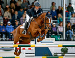 October 17, 2021: Alexandra Knowles (USA), aboard Morswood, competes during the Stadium Jumping Final at the 5* level during the Maryland Five-Star at the Fair Hill Special Event Zone in Fair Hill, Maryland on October 17, 2021. Jon Durr/Eclipse Sportswire/CSM