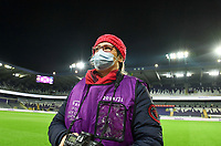 Belgian photographer Sevil Oktem pictured during a female soccer game between RSC Anderlecht Dames and Northern Irish Linfield Ladies  in the first qualifying round for the Uefa Womens Champions League of the 2020 - 2021 season , Wednesday 4 th of November 2020  in ANDERLECHT , Belgium . PHOTO SPORTPIX.BE | SPP | DAVID CATRY