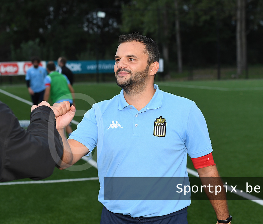 head coach Tiziano Rutilo of Sporting Charleroi pictured during a female soccer game between Sporting Charleroi and FC Femina White Star Woluwe on the second matchday of the 2020 - 2021 season of Belgian Scooore Women s SuperLeague , friday 4 th of September 2020  in Marcinelle , Belgium . PHOTO SPORTPIX.BE   SPP   DAVID CATRY