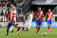 Harrison, NJ - Friday Sept. 01, 2017: Celso Borges, Bobby Wood during a 2017 FIFA World Cup Qualifier between the United States (USA) and Costa Rica (CRC) at Red Bull Arena.