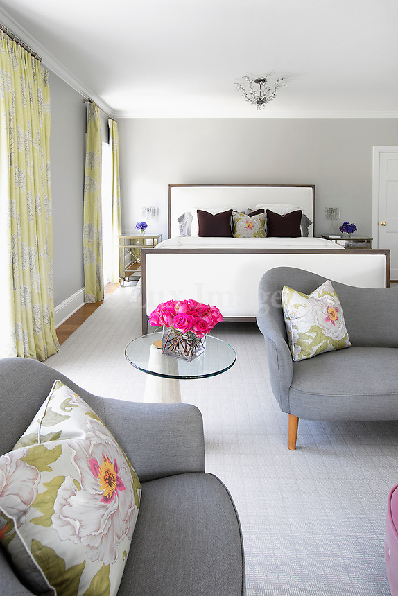 classic bedroom with armchair
