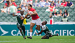 Papua New Guinea vs South Korea during their HSBC Sevens Wold Series Qualifier match as part of the Cathay Pacific / HSBC Hong Kong Sevens at the Hong Kong Stadium on 27 March 2015 in Hong Kong, China. Photo by Xaume Olleros / Power Sport Images