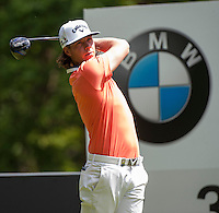 21.05.2015. Wentworth, England. BMW PGA Golf Championship. Round 1.  Kristoffer Broberg [SWE]  on the Par 4 3rd, during the first round of the 2015 BMW PGA Championship from The West Course Wentworth Golf Club