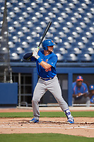 GCL Mets Matthew Foley (98) at bat during the first game of a doubleheader against the GCL Nationals on July 22, 2017 at The Ballpark of the Palm Beaches in Palm Beach, Florida.  GCL Mets defeated the GCL Nationals 1-0 in a seven inning game that originally started on July 17th.  (Mike Janes/Four Seam Images)