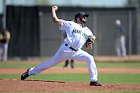 Seattle Mariners pitcher Kody Kerski (29) during an Instructional League game against the Milwaukee Brewers on October 4, 2014 at Peoria Stadium Training Complex in Peoria, Arizona.  (Mike Janes/Four Seam Images)