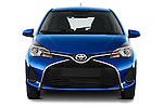 Car photography straight front view of a 2015 Toyota Yaris Le 5 Door Hatchback