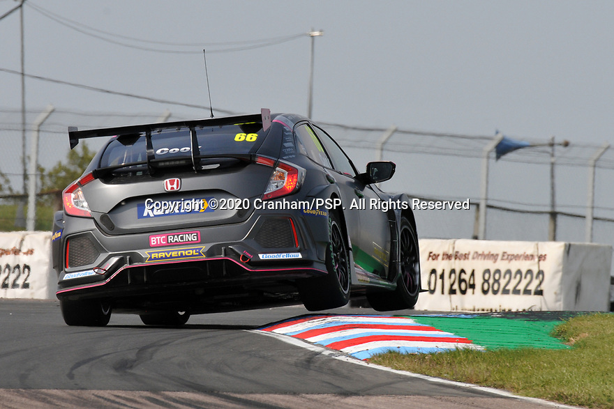 Round 5 of the 2020 British Touring Car Championship. #66 Josh Cook. BTC Racing. Honda Civic Type R.