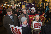 The NEU Trade Union hold a march and rally in Westminster attended by Jeremy Corbyn and John McDonnell. The protest was against cuts to school budgets. 20-11-18