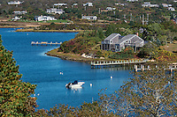 House overlooking Nashaquitsa Pond, Chilmark, Martha's Vineyard, Massachusetts, USA