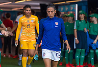 PARIS,  - JUNE 28: Christen Press #23 enters the field during a game between France and USWNT at Parc des Princes on June 28, 2019 in Paris, France.