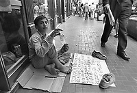 - young nomad Rom beggar in Naples downtown<br /> <br /> - giovane mendicante nomade Rom nel centro di Napoli