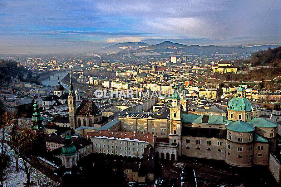 Vista da cidade de Salsburgo na Áustria. 2000. Foto de Nair Benedicto.
