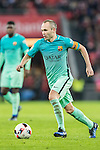 Andres Iniesta Lujan of FC Barcelona in action during their Copa del Rey Round of 16 first leg match between Athletic Club and FC Barcelona at San Mames Stadium on 05 January 2017 in Bilbao, Spain. Photo by Victor Fraile / Power Sport Images
