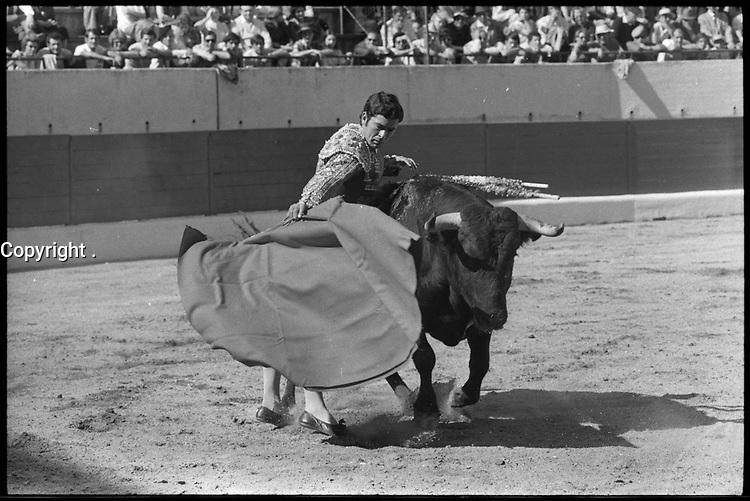 20 Juin 1971. Vue de la corrida de Paquirri dans les arènes de Toulouse.