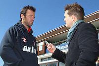 New Essex signing Rob Quiney (L) is interviewed by James Colasanti - Essex County Cricket Club Press Day at the Essex County Ground, Chelmsford, Essex - 02/04/13 - MANDATORY CREDIT: Gavin Ellis/TGSPHOTO - Self billing applies where appropriate - 0845 094 6026 - contact@tgsphoto.co.uk - NO UNPAID USE.