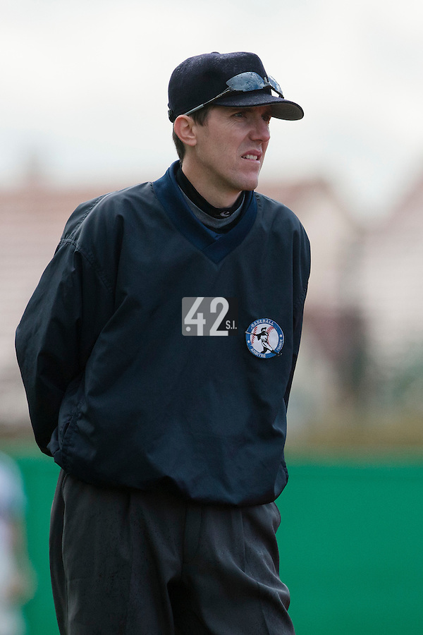 16 October 2010: Umpires Franck Lautier is seen during Rouen 16-4 win over Savigny, during game 1 of the French championship finals, in Savigny sur Orge, France.