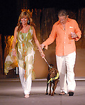 Jeff and Vicky Kozak with Sam at the Citizens for Animal Protection owner/pet fashion show at the Hilton Americas Houston Saturday June 06,2009.(Dave Rossman/For the Chronicle)