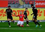 Fussball - 3.Bundesliga - Saison 2020/21<br /> Kaiserslautern -  Fritz-Walter-Stadion 07.04.2021<br /> 1. FC Kaiserslautern (fck)  - FSV Zwickau (zwi)<br /> Jean ZIMMER (1. FC Kaiserslautern), mi, wird von Felix DRINKUTH (FSV Zwickau) gefoult <br /> <br /> Foto © PIX-Sportfotos *** Foto ist honorarpflichtig! *** Auf Anfrage in hoeherer Qualitaet/Aufloesung. Belegexemplar erbeten. Veroeffentlichung ausschliesslich fuer journalistisch-publizistische Zwecke. For editorial use only. DFL regulations prohibit any use of photographs as image sequences and/or quasi-video.