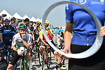 Mark Cavendish (GBR) Team Dimension Data lines up before the  start of Stage 5 The Meraas Stage final stage of the Dubai Tour 2018 the Dubai Tour's 5th edition, running 132km from Skydive Dubai to City Walk, Dubai, United Arab Emirates. 10th February 2018.<br /> Picture: LaPresse/Massimo Paolone | Cyclefile<br /> <br /> <br /> All photos usage must carry mandatory copyright credit (© Cyclefile | LaPresse/Massimo Paolone)