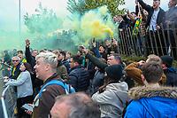 1st May 2021; Carrow Road, Norwich, Norfolk, England, English Football League Championship Football, Norwich versus Reading; Norwich City fans celebrate winning the EFL championship