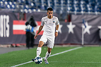 FOXBOROUGH, MA - SEPTEMBER 1: Danny Bedoya #8 of FC Tucson looks to pass during a game between FC Tucson and New England Revolution II at Gillette Stadium on September 1, 2021 in Foxborough, Massachusetts.