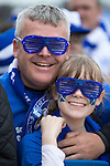 St Johnstone v Dundee United....17.05.14   William Hill Scottish Cup Final<br /> Katie Stewart and her Dad Alan<br /> Picture by Graeme Hart.<br /> Copyright Perthshire Picture Agency<br /> Tel: 01738 623350  Mobile: 07990 594431