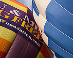 Hot air balloons at the annual Winchester Balloon Festival.  Long Branch Farm, Winchester, Virginia, USA.  © RickCollier.com.