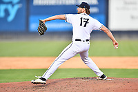 Asheville Tourists pitcher Matt Ruppenthal (17) delivers a pitch during a game against the Aberdeen IronBirds on June 16, 2021 at McCormick Field in Asheville, NC. (Tony Farlow/Four Seam Images)