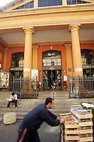 L'entrata del Mercato delle Erbe di Bologna.<br /> Exterior view of the Mercato delle Erbe food market in Bologna.<br /> UPDATE IMAGES PRESS/Riccardo De Luca