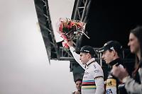 Wout Van Aert (BEL/Crélan-Charles) finishing 2nd behind Mathieu van der Poel (NED/Beobank-Corendon)<br /> <br /> Super Prestige Ruddervoorde / Belgium 2017