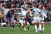 Sunday 19 October 2014<br /> Pictured: Treviso wing Ludovico Nitoglia catches a high ball<br /> Re: Ospreys v Treviso, Heineken Champions Cup at the Liberty Stadium, Swansea