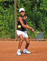 August 4, 2014, Netherlands, Dordrecht, TC Dash 35, Tennis, National Junior Championships, NJK,  Charlize Bernardus (NED)<br /> Photo: Tennisimages/Henk Koster