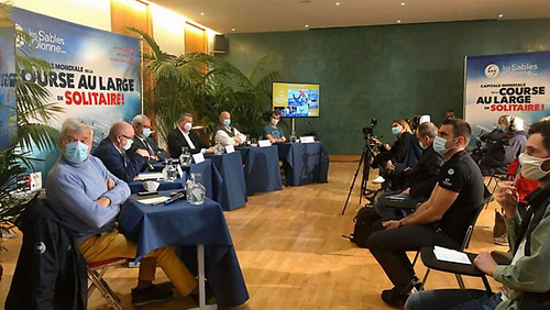 Les Sables d'Olonne Press Conference to launch the 2022 Golden Globe Race and feature the Vendee Globe and Mini Transat all starting from Les Sables.
