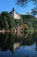 Europe/France/Midi-Pyrénées/46/Lot/Vallée de la Dordogne/Lacave: Château de la Treyne (reconstruit au XVII ème siècle)